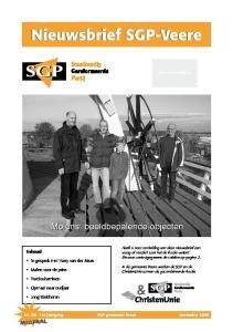 Nieuwsbrief SGP-Veere