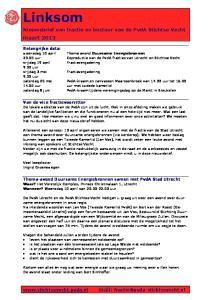 Nieuwsbrief van fractie en bestuur van de PvdA Stichtse Vecht