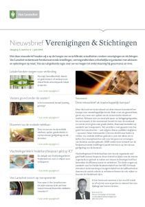 Nieuwsbrief Verenigingen & Stichtingen