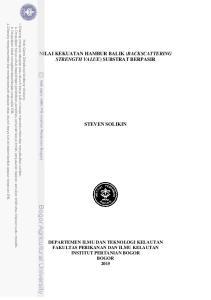 NILAI KEKUATAN HAMBUR BALIK (BACKSCATTERING STRENGTH VALUE) SUBSTRAT BERPASIR STEVEN SOLIKIN