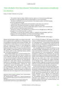 Non-alcoholic fatty liver disease bij kinderen: een nieuwe complicatie van obesitas