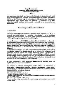 Nonprofit szervezetek: egyesületek, köztestületek, (köz)alapítványok adózásának alapvető szabályai 2017