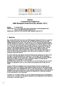 Notitie Financiering Propertize B&S Vastgoed Nederland NV, oktober 2015