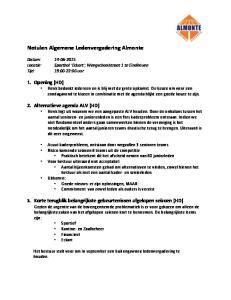 Notulen Algemene Ledenvergadering Almonte