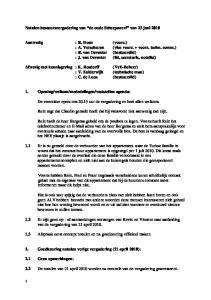 Notulen bestuursvergadering van de oude Scheepswerf van 23 juni 2010
