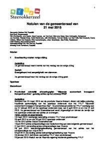 Notulen van de gemeenteraad van 21 mei 2015
