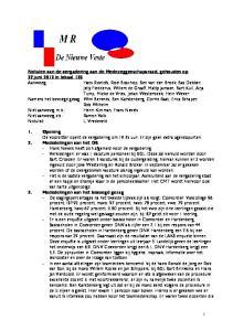 Notulen van de vergadering van de Medezeggenschapsraad, gehouden op 27 juni 2012 in lokaal Opening 2. Mededelingen van het DB