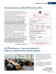 Nová povinnost pro plátce DPH od roku 2016