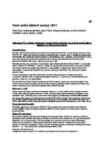 Nové znění niklové normy 1811
