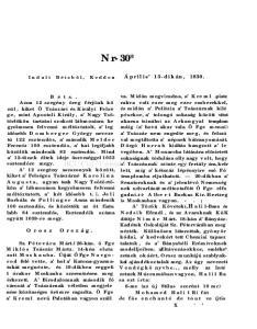 Nr- 30* Április 13-dikán, Orosz Ország