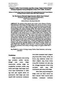 Nur Eka Kusuma Hindrasti, Puguh Karyanto, Riezky Maya Probosari Pendidikan Biologi FKIP Universitas Sebelas Maret,
