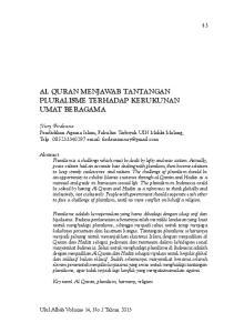 Nury Firdausia Pendidikan Agama Islam, Fakultas Tarbiyah UIN Maliki Malang, Telp
