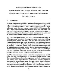 Nuwuh Ngrembakakake Budi Pakarti Luhur. Lumantar Kagiyatan Ekstra Kurikuler : Kethoprak, Teater Basa Jawa,