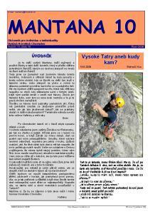 Občasník pro individua a individuality Vydává Horoklub Chomutov Ročník 11, číslo 10 Říjen 2008