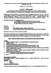 OBEC HÁJ U DUCHCOVA. Bod 1. - Zahájení, schválení programu, určení zapisovatele, volba ověřovatelů zápisu