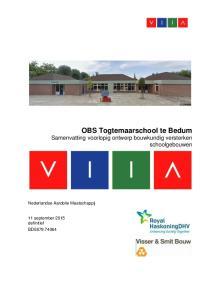 OBS Togtemaarschool te Bedum Samenvatting voorlopig ontwerp bouwkundig versterken schoolgebouwen