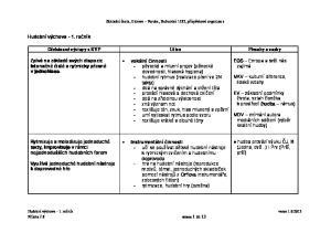 Očekávané výstupy z RVP Učivo Přesahy a vazby