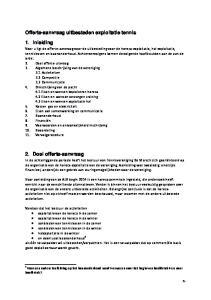 Offerte-aanvraag uitbesteden exploitatie tennis. 1. Inleiding. 2. Doel offerte-aanvraag