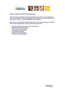Office toptalenten ASAP Geraardsbergen