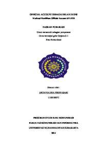 OFFICIAL ACCOUNT SEBAGAI IKLAN DI SNS Motivasi Pemilihan Official Account di LINE NASKAH PUBLIKASI