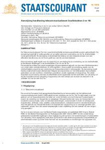 Officiële uitgave van het Koninkrijk der Nederlanden sinds Aanwijzing handhaving telecommunicatiewet (hoofdstukken 3 en 10)