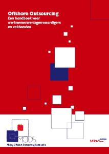 Offshore Outsourcing Een handboek voor werknemersvertegenwoordigers en vakbonden