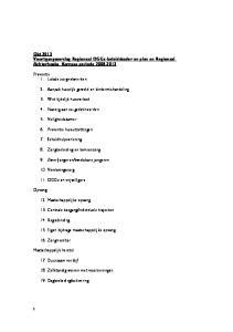 Okt 2013 Voortgangsverslag Regionaal OGGz-beleidskader en plan en Regionaal Achterhoeks Kompas periode