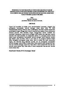 Oleh: Agustian Priyanata, pendidikan bahasa dan sastra Indonesia. ABSTRAK