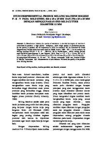 Oleh: H a r i y a n t o Dosen Politeknik Perkapalan Negeri Surabaya;
