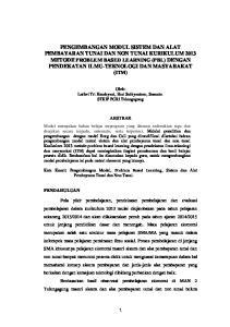 Oleh: Luthvi Tri Handayani, Hari Subiyantoro, Susanto. STKIP PGRI Tulungagung ABSTRAK