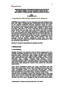 Oleh : M. NAHAR, S. Pd. *) M. Nahar adalah guru IPA Fisika di SMP Negeri 1 Sangkulirang. Kutai Timur, Kalimantan Timur
