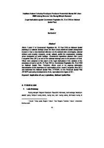 Oleh Nuribadah 1. Malikussaleh. 1 Dosen Tetap pada Bagian Hukum Tata Negara Fakultas Hukum Universitas