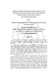 Oleh : Rodliyah Orgiyatmi Kartika Senja*, Sukarmin, Dyah Fitriana Masithoh, Dwi Fista Setyo Putri