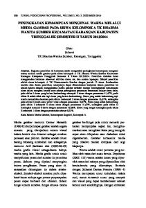 Oleh: Sularni TK Dharma Wanita Sumber, Karangan, Trenggalek