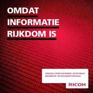 omdat Informatie cruciaal voor uw bedrijf: de optimale informatie- en documentstrategie