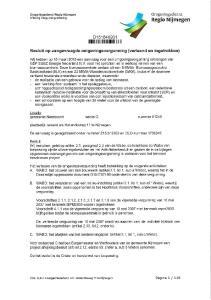 Omgevingsdienst Regio Nijmegen Afdeling Vergunningverlening D Besluit op aangevraagde omgevingsvergunning (verleend en ingetrokken)