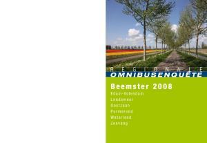 omnibusenquête Beemster 2008 Edam-Volendam Landsmeer Oostzaan Purmerend Waterland Zeevang