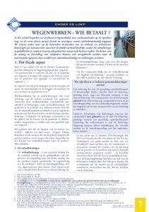 ONDER DE LOEP WEGENWERKEN : WIE BETAALT?