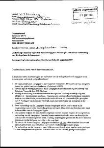Onderwerp: Bezwaar tegen het Bestemmingsplan