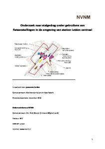Onderzoek naar stalgedrag onder gebruikers van fietsenstallingen in de omgeving van station Leiden centraal