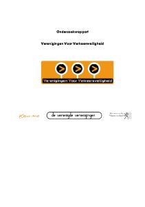 Onderzoeksrapport. Verenigingen Voor Verkeersveiligheid