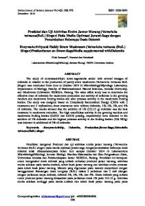 Online Jurnal of Natural Science Vol 4(3) : ISSN: Desember 2015