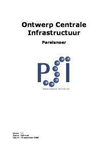 Ontwerp Centrale Infrastructuur. Parelsnoer