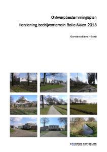 Ontwerpbestemmingsplan Herziening bedrijventerrein Bolle Akker Gemeente Gemert-Bakel