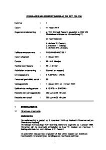OPENBAAR FAILLISSEMENTSVERSLAG (EX ART. 73A FW)