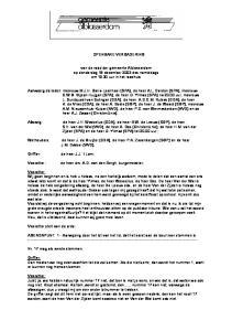 OPENBARE VERGADERING. van de raad der gemeente Alblasserdam op donderdag 18 december 2003 des namiddags om uur in het raadhuis