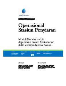 Operasional Stasiun Penyiaran