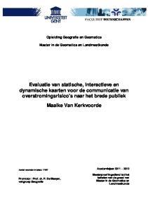 Opleiding Geografie en Geomatica. Master in de Geomatica en Landmeetkunde