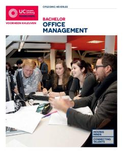 OPLEIDING HEVERLEE BACHELOR OFFICE MANAGEMENT VOORHEEN KHLEUVEN MOVING MINDS CONNECTING TALENTS