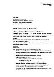 OPRICHTING van de besloten vennootschap: UNIVÉ HET ZUIDEN BEMIDDELING B.V. gevestigd te Wouw (gemeente Roosendaal) (na omzetting OWM)
